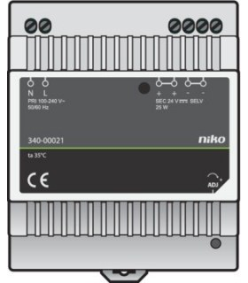 DIN-rail voeding 24V DC voor touchscreen