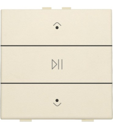 Audio button with led - cream -  100-52073 - Niko Home Control