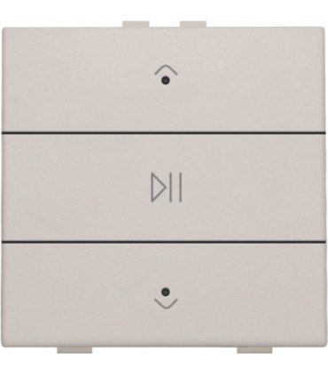 Audio button with led - light grey -  102-52073 - Niko Home Control