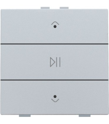 Audio button with led - sterling -  121-52073 - Niko Home Control