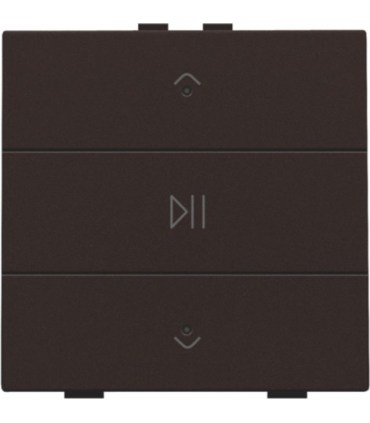 Audio button with led - dark brown  -  124-52073 - Niko Home Control