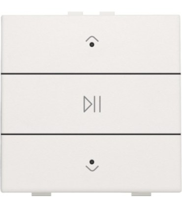 Audio button with led - white coated  -  154-52073 - Niko Home Control