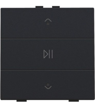 Audio button with led - black coated  -  161-52073 - Niko Home Control