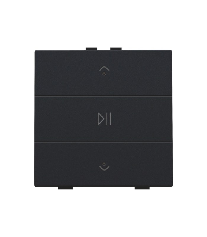 Audio button with led - piano black coated  -  200-52073 - Niko Home Control