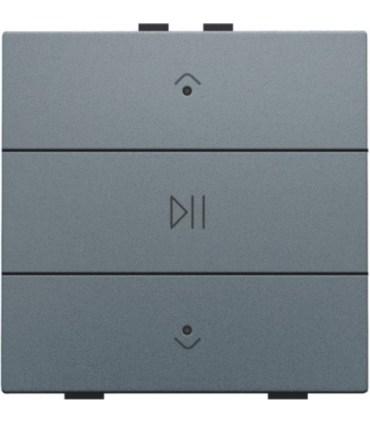Audio button with led - Alu Grey  -  220-52073 - Niko Home Control