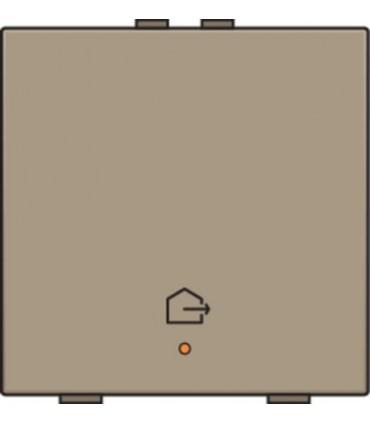 Enkelvoudige bediening woning verlaten, bronze - 123-52901 - Niko Home Control