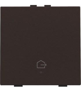 Enkelvoudige bediening woning verlaten, dark brown - 124-52901 - Niko Home Control