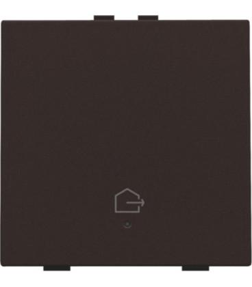 Button for leaving home  - dark brown -  124-52901 - Niko Home Control