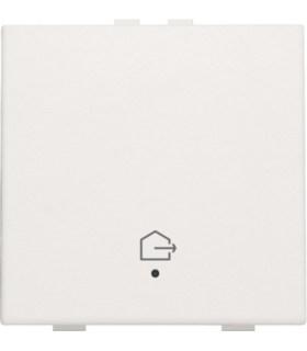 Enkelvoudige bediening woning verlaten, white coated - 154-52901 - Niko Home Control