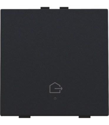 Enkelvoudige bediening woning verlaten, black coated - 161-52901 - Niko Home Control