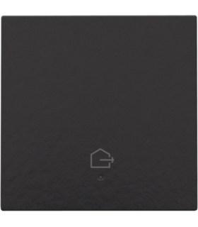 Enkelvoudige bediening woning verlaten, piano black coated - 200-52901 - Niko Home Control