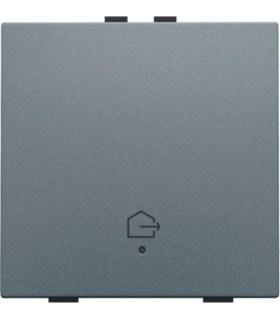 Enkelvoudige bediening woning verlaten, alu grey - 220-52901 - Niko Home Control