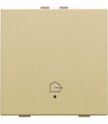 Enkelvoudige bediening woning verlaten, alu gold - 221-52901 - Niko Home Control
