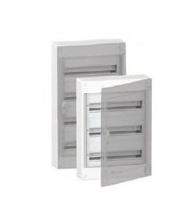 Verdeelkast 72 modules - 3 rijen  +  doorzichtige deur - BOXPLUS24310