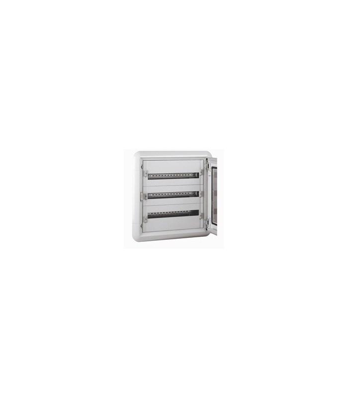 Isolerende wandverdeelkast - 3 rijen - 72 modules + metalen deur