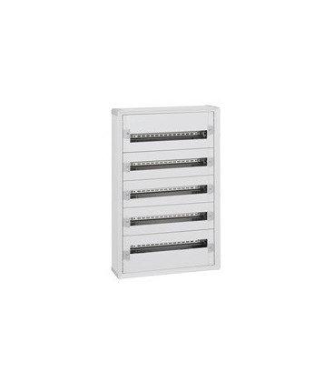 Isolerende wandverdeelkast - 5 rijen - 120 modules + metalen deur