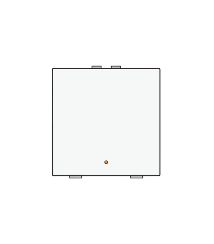 Enkelvoudige lichtbediening met led - Wit - 101-52001