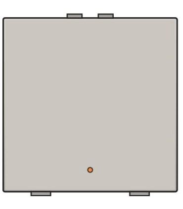 Enkelvoudige lichtbediening met led - Light Grey - 102-52001