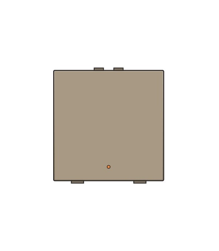 Enkelvoudige lichtbediening met led - Bronze - 123-52001