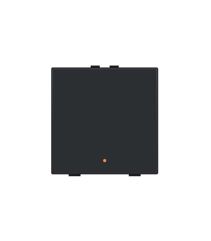 Enkelvoudige lichtbediening met led - Piano Black Coated - 200-52001