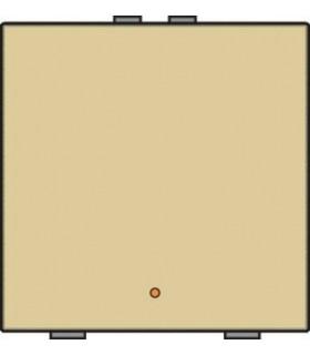 Enkelvoudige lichtbediening met led - Alu-Look Gold - 221-52001