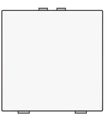 Niko Home Control Enkelvoudige lichtbediening, White Coated - 154-51001