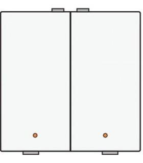 Tweevoudige lichtbediening met led, Wit - 101-52002