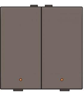 Tweevoudige lichtbediening met led, Greige - 104-52002