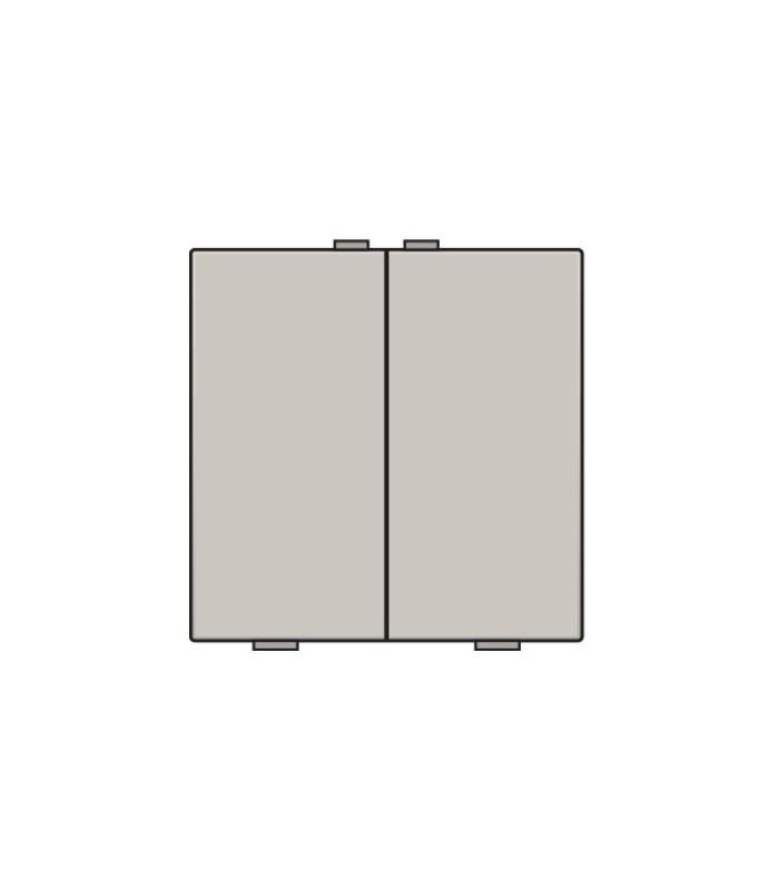 Tweevoudige lichtbediening, Light Grey - 102-51002 - Niko Home Control