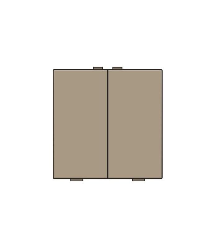 Tweevoudige lichtbediening, Bronze - 123-51002 - Niko Home Control