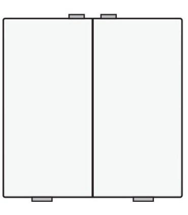 Tweevoudige lichtbediening, White Coated - 154-51002 - Niko Home Control