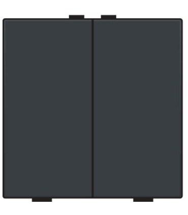 Tweevoudige lichtbediening, Bakelite-Look Piano Black Coated - 200-51002 - Niko Home Control