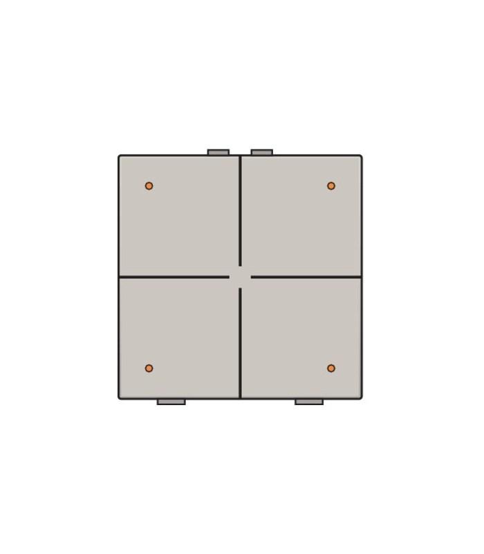 Viervoudige lichtbediening met led, Light Grey - 102-52004