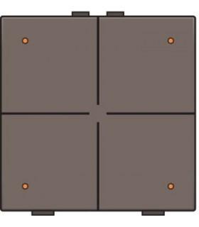 Viervoudige lichtbediening met led, Greige - 104-52004