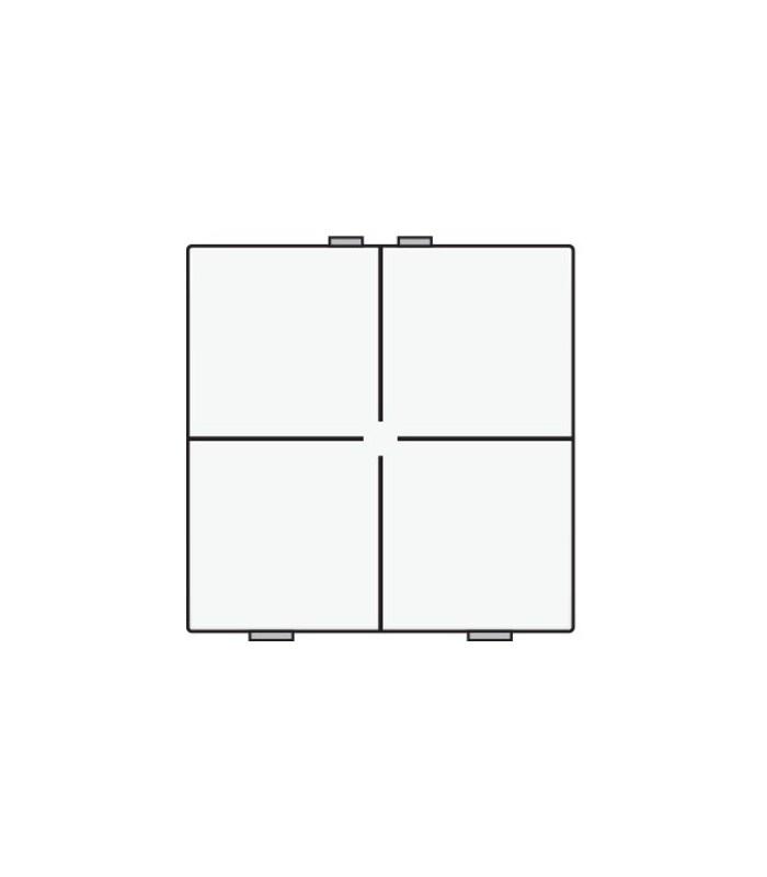 Viervoudige lichtbediening, Wit - 101-51004 - Niko Home Control