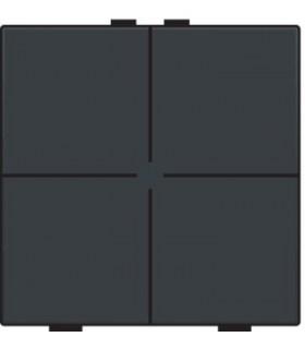 Viervoudige lichtbediening, Anthracite - 122-51004 - Niko Home Control