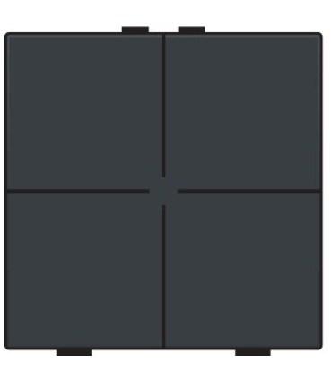 Viervoudige lichtbediening, Bakelite-Look Piano Black Coated - 200-51004 - Niko Home Control