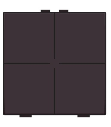 Viervoudige lichtbediening, Bakelite-Look Chocolate Coated - 201-51004 - Niko Home Control