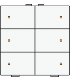 Zesvoudige lichtbediening met led, Wit - 101-52006 - Niko Home Control