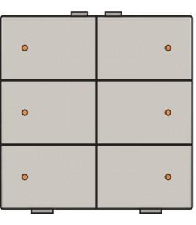 Zesvoudige lichtbediening met led, Light Grey - 102-52006 - Niko Home Control