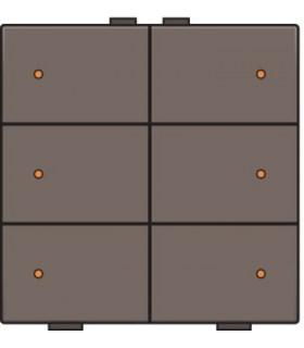 Zesvoudige lichtbediening met led, Greige - 104-52006 - Niko Home Control