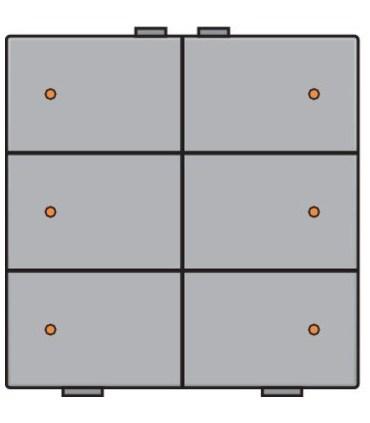 Zesvoudige lichtbediening met led, Sterling - 121-52006 - Niko Home Control