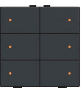 Zesvoudige lichtbediening met led, Anthracite - 122-52006 - Niko Home Control