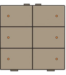 Zesvoudige lichtbediening met led, Bronze - 123-52006 - Niko Home Control