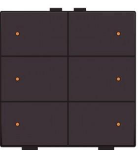 Zesvoudige lichtbediening met led, Dark Brown - 124-52006 - Niko Home Control