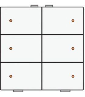 Zesvoudige lichtbediening met led, White Coated - 154-52006 - Niko Home Control