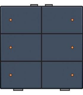 Zesvoudige lichtbediening met led, Alu-Look Steel Grey - 220-52006 - Niko Home Control