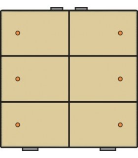 Zesvoudige lichtbediening met led, Alu-Look Gold - 221-52006 - Niko Home Control