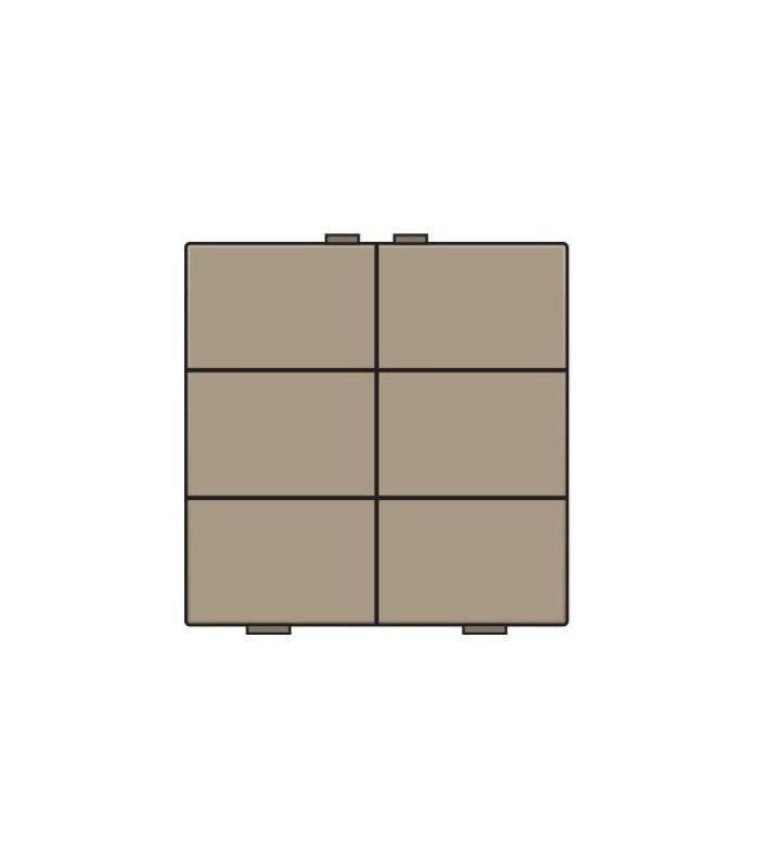 Zesvoudige lichtbediening, Bronze - 123-51006 - Niko Home Control