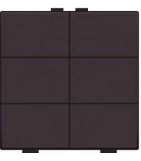 Zesvoudige lichtbediening, Dark Brown - 124-51006 - Niko Home Control